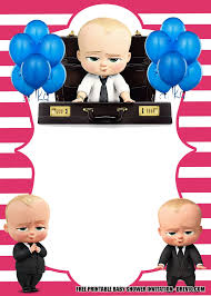 Baby Boss Invitation Template For Your Adorable Little Boss In