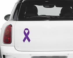 Set Of 6 Epilepsy Breast Cancer Awareness Ribbon Decal Support Vinyl Sticker Ebay