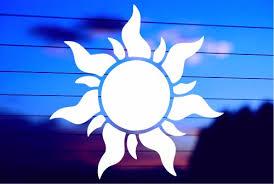 Tangled Sun Car Decal Sticker
