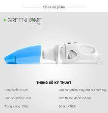 Máy hút bụi mini cầm tay 600W GreenHome GHA-102 tiện lợi gọn nhẹ