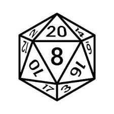 20 Sided Dice Vinyl Decal Sticker D D Dungeons And Dragons Fantasy Sci Fi Ebay