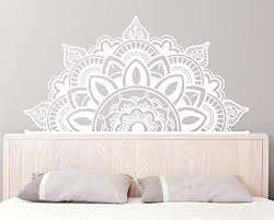 Amazon Com Amazing Home Decor Half Mandala Wall Decals Boho Wall Decor Headboard Sticker Bohemian Decor Boho Decal Home Decor Mandala Wall Decaler882 Kitchen Dining