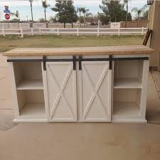 grandy barn door console ana white