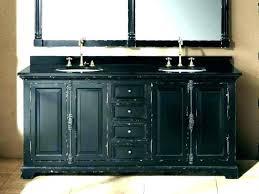 distressed grey cabinets bathroom