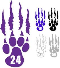 Silverwolves Paw And Tear Personalized Window Decal Sw102