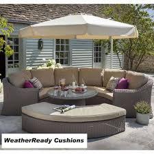 hartman bali curved lounge set birch