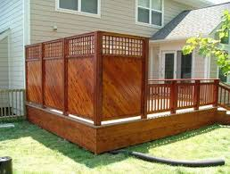 Deck Privacy Design Ideas Pictures Remodel And Decor Backyard Patio Decks Backyard Backyard Privacy
