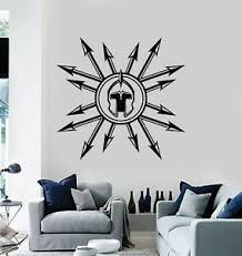 Vinyl Wall Decal Medieval Spears Helmet Weapon Military Decor Stickers G3196 Ebay