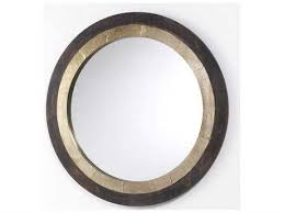decorative wooden wall mirror