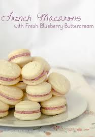 macaron plus fresh blueberry