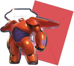 Big Hero 6 Baymax Tarjetas De Invitacion Robowabohu Gigantes Con