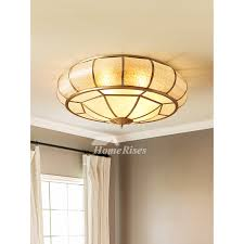 round ceiling light solid brass