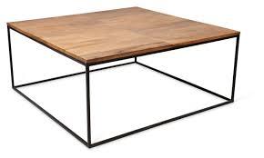 wood coffee table metal legs