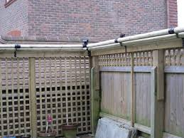 Cat Proof Fence Except Use Painted Pvc Held Loosely Between Tall Screws On Plastic Or Metal Brackets So They Roll Cats Cat Proofing Cat Fence Cat Enclosure