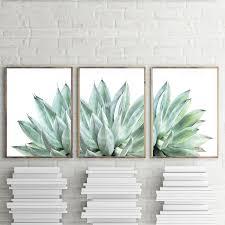 cactus wall art modern plant print