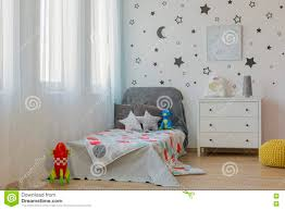 Outer Space Child Bedroom Idea Stock Image Image Of Bedroom Stickers 78421827