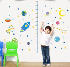 China Self Adhesive Space Universe Height Measurement Wall Sticker Growth Chart Kids Room China Sticker And Wall Paper Price