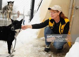 Longmont Humane Society. Staff member Janine West, of Longmont, pets...  News Photo - Getty Images