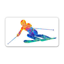 Skiing 5 Vinyl Sticker For Car Laptop I Pad Waterproof Decal Walmart Com Walmart Com