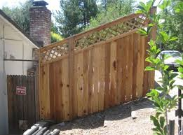 50 Good And Bad Fence Ideas Lattice Up A Slope This Looks Complicated Backyard Fences Fence Design Brick Fence