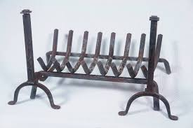 cast iron fireplace log grate with
