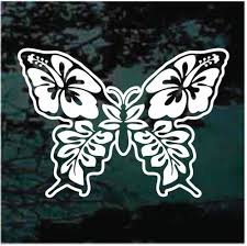Hibiscus Flowers Jeep Girl Car Window Decals Stickers Decal Junky