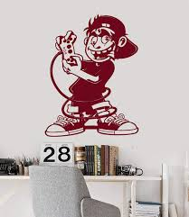 Wall Vinyl Decal Gamer Boy Room Video Games Kids Art Play Room Sticker Wallstickers4you