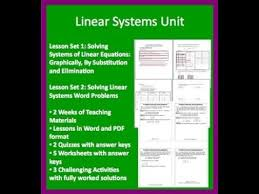 solving linear system complete unit
