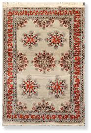 mint burnt orange color persian rug 4