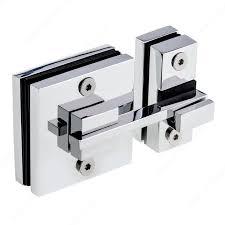 knob latch for glass shower door