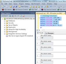 numeric functions in sql server 2016