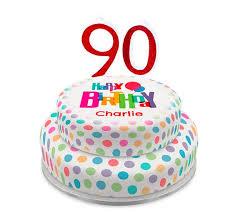 personalised 90th birthday cakes