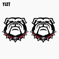 Yjzt 7 6cm 7 2cm Car Sticker Uga Georgia Bulldogs Reflective Car Window Decal C1 7646 Car Window Decals Car Stickerwindow Decals Aliexpress