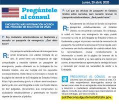 Preguntele Al Consul Embajada De Los Estados Unidos En Guatemala