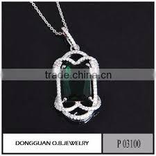 brass silver jewelry custom big stone