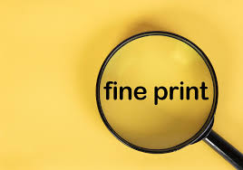 Image result for fine print text