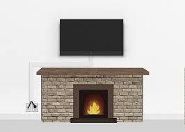 silver fireplace mount medium