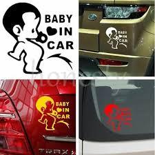 Jdm Kids Boys Baby In Car On Board Car Decal Window Bumper Laptop Wall Sticker 0 71 Picclick