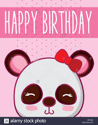 Happy Birthday Card Cute Panda Fotos E Imagenes De Stock Alamy