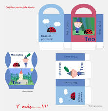 Kit Imprimible Personalizado Cumpleanos Ben Y Holly Nino