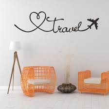 Shop Wall Stickers Travel Themed Quote Words Wall Decal Diy Self Adhesive Removable Pvc Home Decor Stickers Online From Best Bed Pillows On Jd Com Global Site Joybuy Com