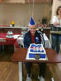 Stan Fox celebrates his 100th birthday