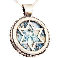roman glass star of david round