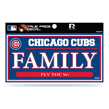Chicago Cubs True Pride Family 3x6 Decal