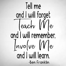 Amazon Com Teach Me Involve Me Ben Franklin Quote 0484 Classroom Decor Wall Decor Back To School Classroom Decal Handmade