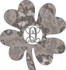 Four Leaf Clover Monogram Plasma Cut Metal Shape Mono1 M The Wood Shape Store