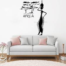 New Design African Woman And Tree Wall Decal Africa Female Vinyl Wall Stickers Art Mural Sofa Background Bedroom Wallpaper Lc965 Leather Bag