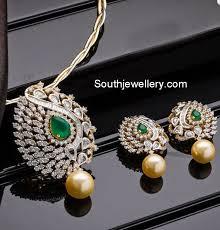 earrings diamond pendant sets