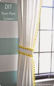 Pom Pom Trim Curtains Knockoffdecor Com Diy Curtains Kids Room Curtains Pom Pom Curtains