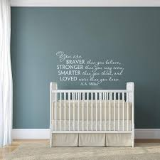 You Are Braver Than You Believe A A Milne Wall Decal Nursery Etsy Nursery Wall Decals Nursery Wall Decals Quotes Wall Quotes Decals